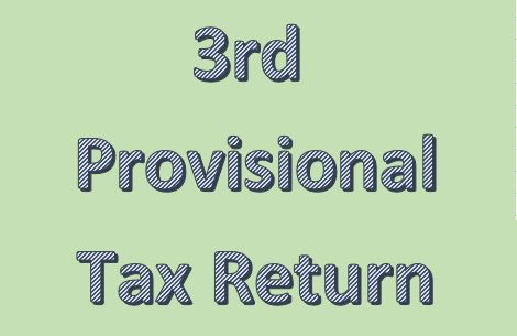 How to submit a third provisional tax return